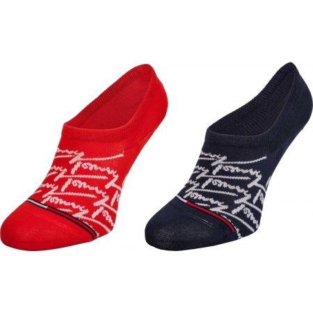 Ponožky - Tommy Hilfiger JEANS FOOTIE 2P HANDWRITE - 1