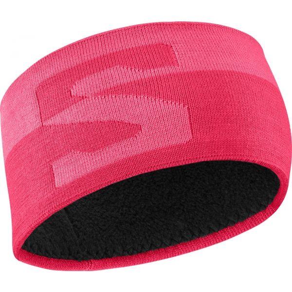 Salomon ORIGINAL HEADBAND ružová  - Dámska čelenka