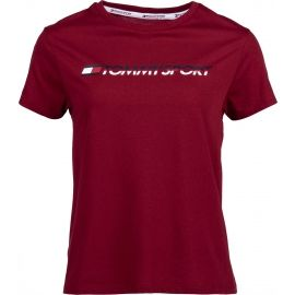 Tommy Hilfiger TEE LOGO CO/EA - Dámske tričko