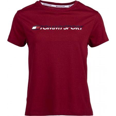 Dámske tričko - Tommy Hilfiger TEE LOGO CO/EA - 1