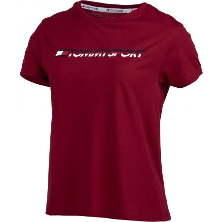 Dámske tričko - Tommy Hilfiger TEE LOGO CO/EA - 3