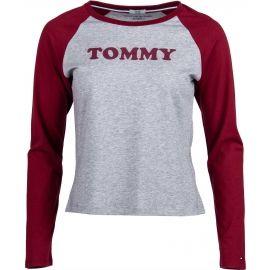 Tommy Hilfiger LS TEE SLOGAN - Dámske tričko s dlhým rukávom