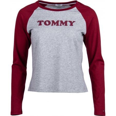 Tommy Hilfiger LS TEE SLOGAN - Tricou de femei cu mâneci lungi