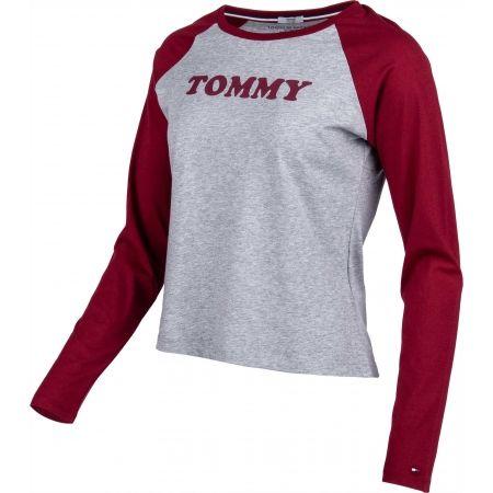 Dámske tričko s dlhým rukávom - Tommy Hilfiger LS TEE SLOGAN - 2