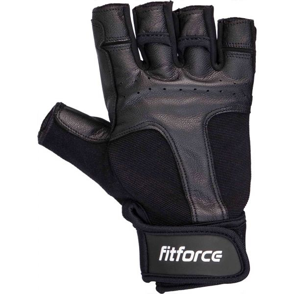 Fitforce BURIAL čierna M - Fitness rukavice