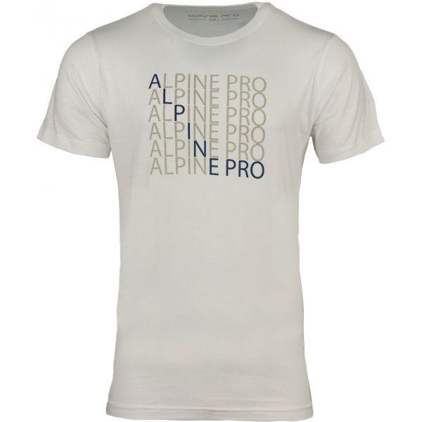 ALPINE PRO EMMET biela XL - Pánske tričko