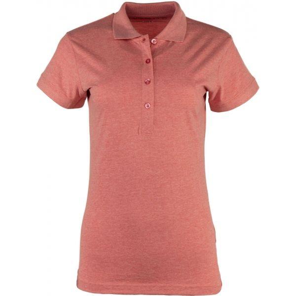 ALPINE PRO ZENDAYA ružová S - Dámske polo tričko