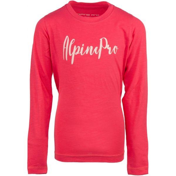 ALPINE PRO CAMRO ružová 128-134 - Detské tričko