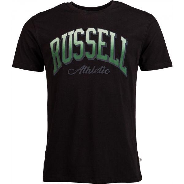 Russell Athletic S/S CREWNECK TEE SHIRT fekete S - Férfi póló