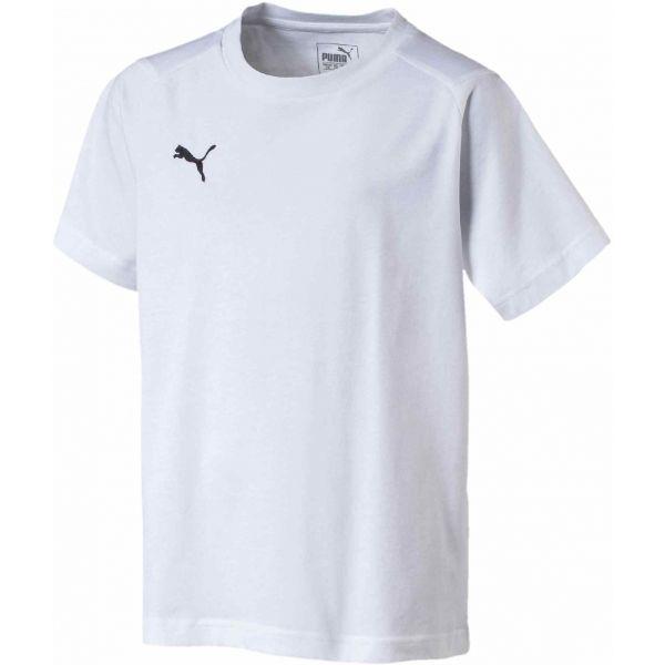 Puma LIGA CASUALS TEE JR biały 176 - Koszulka chłopięca