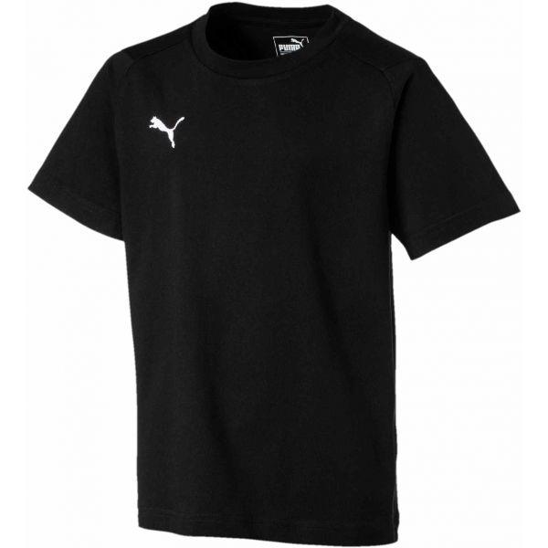 Puma LIGA CASUALS TEE JR czarny 128 - Koszulka chłopięca