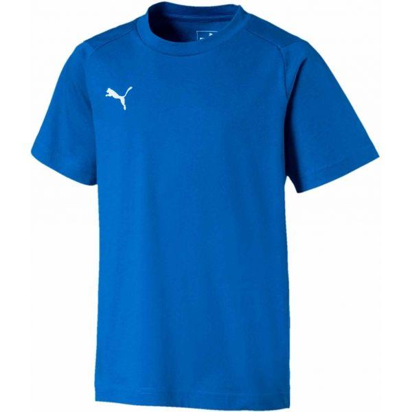 Puma LIGA CASUALS TEE JR niebieski 176 - Koszulka chłopięca