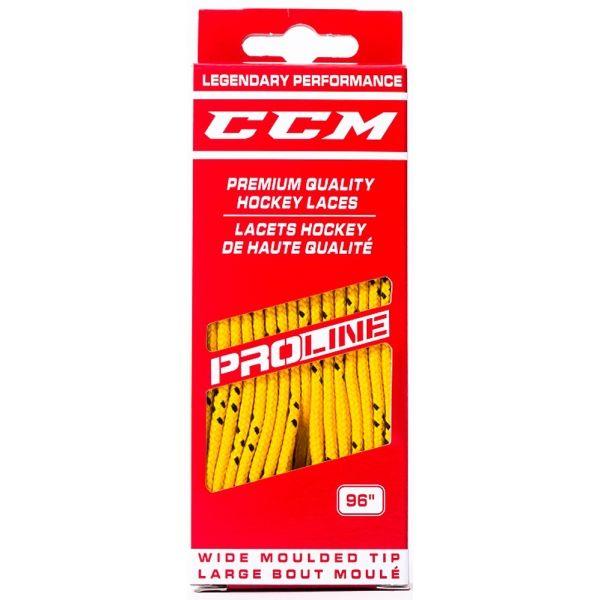 CCM LACE PROLINE WIDE žltá 305 - Bavlnené šnúrky
