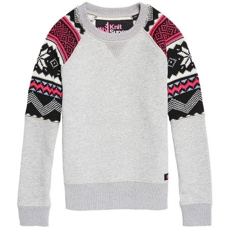 Superdry COURCHEVEL KNIT MIX JUMPER - Dámsky sveter