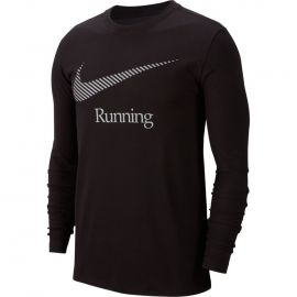 Nike DRY TEE LS DFCT SWSH RUN M - Pánské běžecké tričko