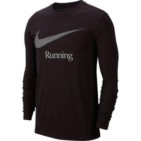 Pánské běžecké tričko - Nike DRY TEE LS DFCT SWSH RUN M - 1