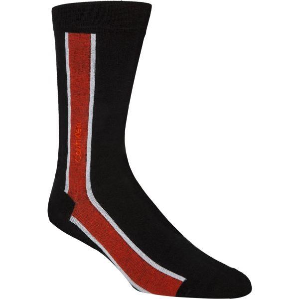 Calvin Klein VERTICAL STRIPE CREW černá UNI - Pánské ponožky
