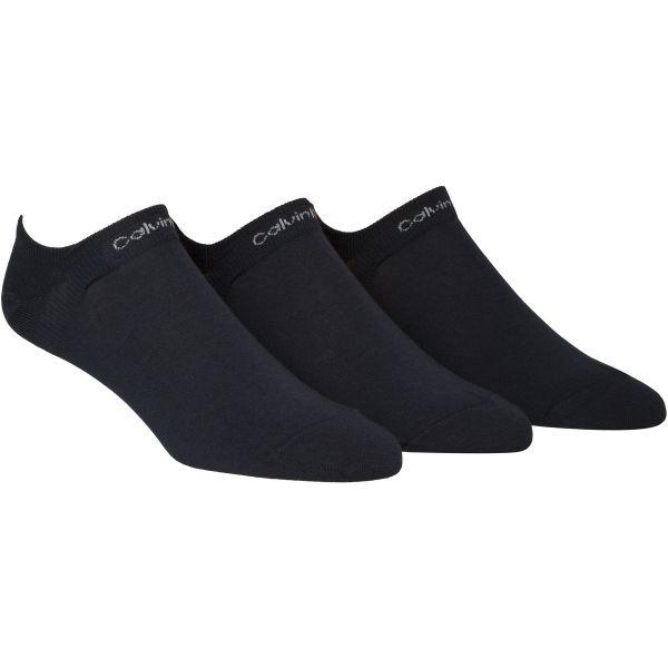 Calvin Klein 3PK NO CUSHION LINER černá  - Pánské ponožky