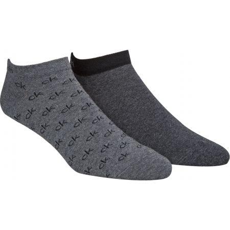 Pánske ponožky - Calvin Klein 2PK ALL OVER CK LOGO