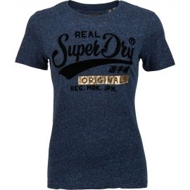 Superdry REAL ORIGINALS FLOCK METALLIC ENTRY TEE - Dámské tričko