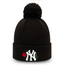 New Era MLB WMNS TWINE BOBBLE KNIT NEW YORK YANKEES - Дамска клубна зимна шапка