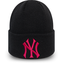 New Era MLBWMNS LEAGUE ESSENTIAL CUFF KNIT NEW YORK YANKEES - Дамска клубна зимна шапка