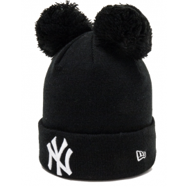 New Era MLB WMNS DOUBLE BOBBLE KNIT NEW YORK YANKEES - Дамска клубна зимна шапка