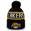 Pánská klubová zimní čepice - New Era NBA BOBBLE KNIT LOS ANGELES LAKERS - 1