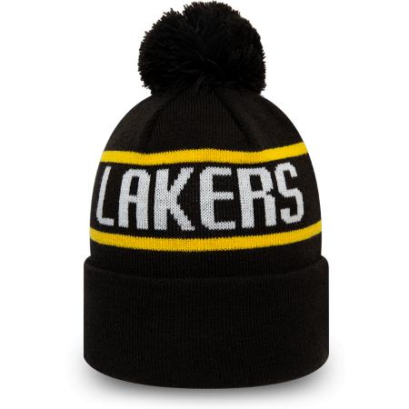 Pánská klubová zimní čepice - New Era NBA BOBBLE KNIT LOS ANGELES LAKERS - 4