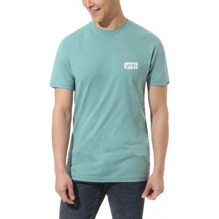 Pánske tričko - Vans MN SCRATCHED VANS SS OIL BLUE - 2
