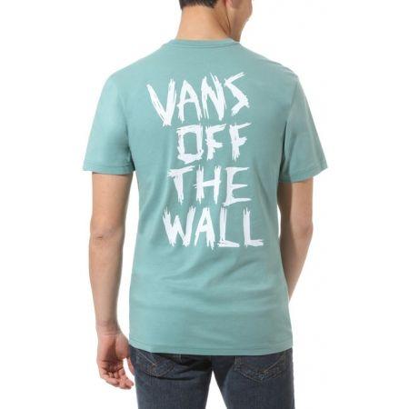 Pánské tričko - Vans MN SCRATCHED VANS SS OIL BLUE - 3