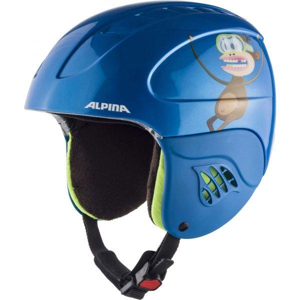 Alpina Sports CARAT modrá (48 - 52) - Dětská lyžařská helma