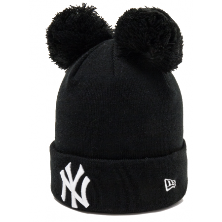 Dívčí zimní čepice - New Era MLB KIDS DOUBLE BOBBLE KNIT NEW YORK YANKEES