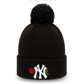 New Era MLB TWINE BOBBLE KNIT KIDS NEW YORK YANKEES - Căciulă de iarnă fete