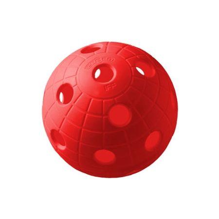 Unihoc BALL CRATER RED - Florbalový míček
