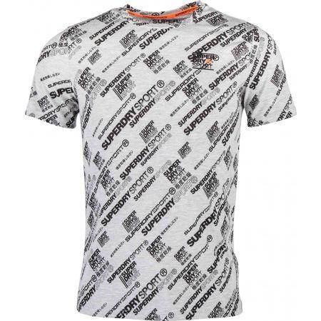 Superdry ACTIVE LOOSE AOP TEE - Koszulka męska