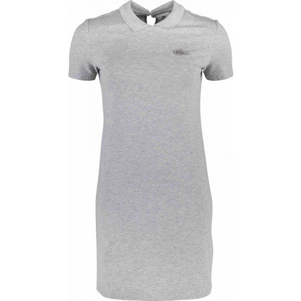Lacoste WOMEN S DRESS šedá 38 - Dámské šaty