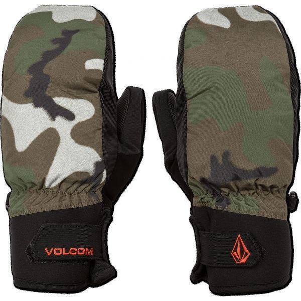 Volcom NYLE MITT tmavo zelená S - Pánske rukavice
