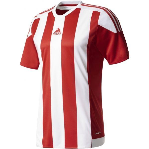 adidas STRIPED 15 JSY JR czerwony 140 - Koszulka piłkarska chłopięca