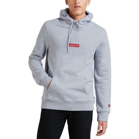 Men's sweatshirt - Levi's HOODIE 2.0 CORE 40 FLEECE MID TONE GREY - 1