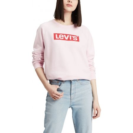 Women's hoodie - Levi's RELAXED GRAPHIC CREW - 1