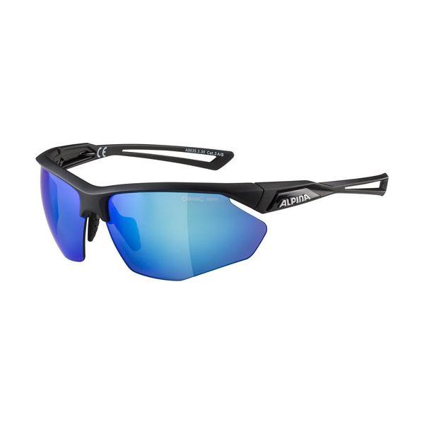Alpina Sports NYLOS HR czarny NS - Okulary przeciwsłoneczne unisex