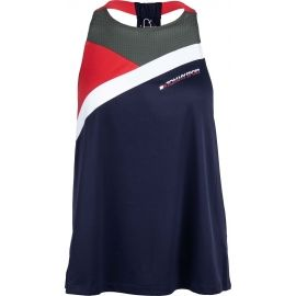 Tommy Hilfiger BLOCKED HIGH NECK TANK LOGO - Dámske tielko