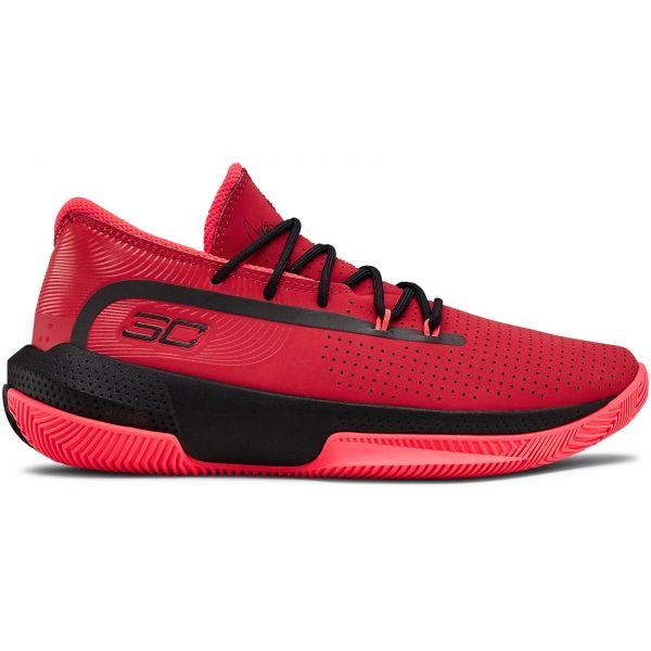 Under Armour GS SC 3ZER0 III červená 7 - Dětská basketbalová obuv