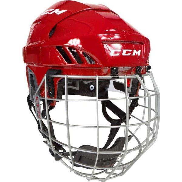 CCM FL60C SR COMBO červená S - Hokejová helma