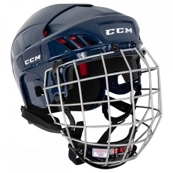 CCM 50C HF COMBO SR modrá M - Hokejová helma