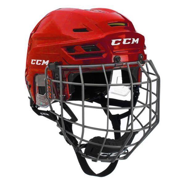 CCM TACKS 310C SR COMBO červená M - Hokejová helma