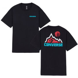 Converse MOUNTAIN MOON GRAPHIC SHORT SLEEVE T-SHIRT - Pánske tričko