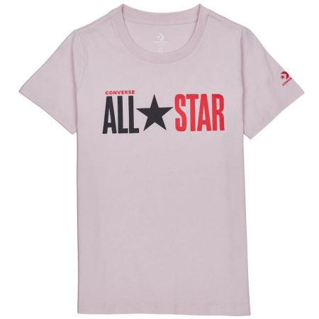Converse ALL STAR SHORT SLEEVE CREW T-SHIRT - Dámske tričko