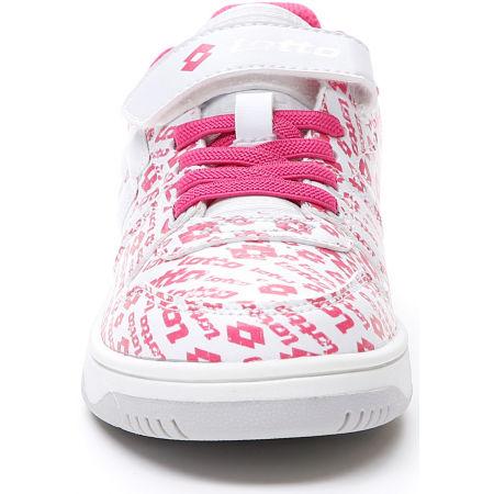 Lányos szabadidő cipő - Lotto BASKETLOW AMF II LOGO CL SL - 4